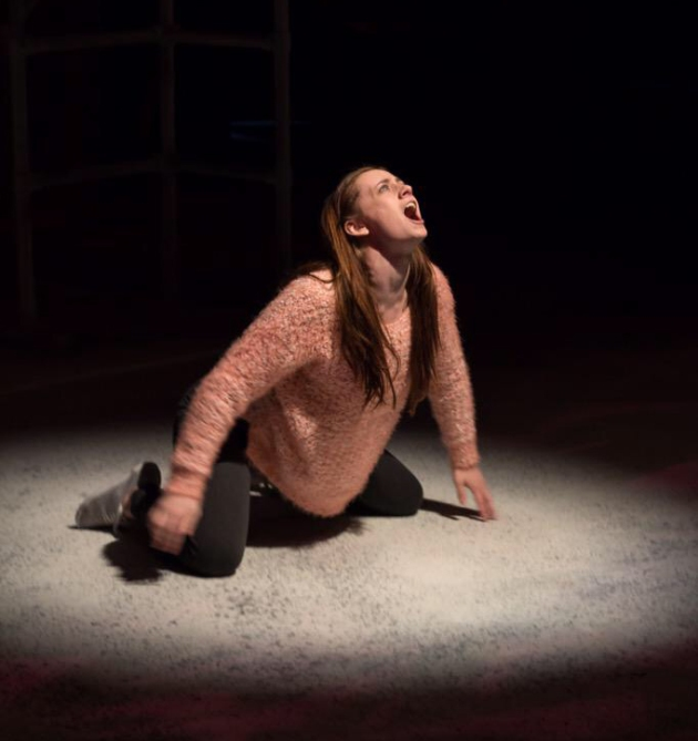 Emily Dowson releasing her inner vampire as Eli in Let The Right One In at ALRA North.