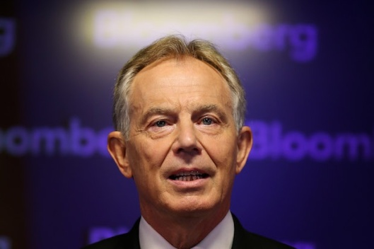 Tony Blair delivering Bloomberg speech
