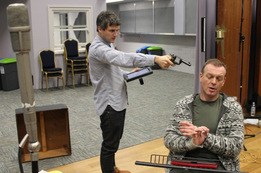 William Ash and Hugo Spear play out a tense scene from the series finale of Stone on Radio 4