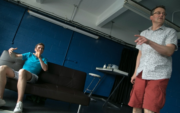 Directing Rob Ward in the award winning production of Away From Home.