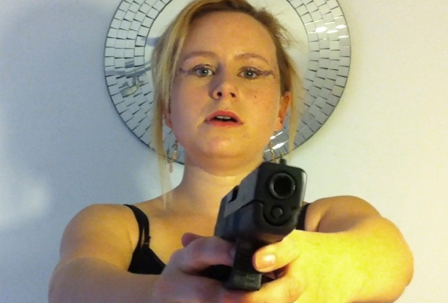 Dolly Rose Campbell wrestles with gun crime in Gorton, a still from Loaded by Jo Kirtley.